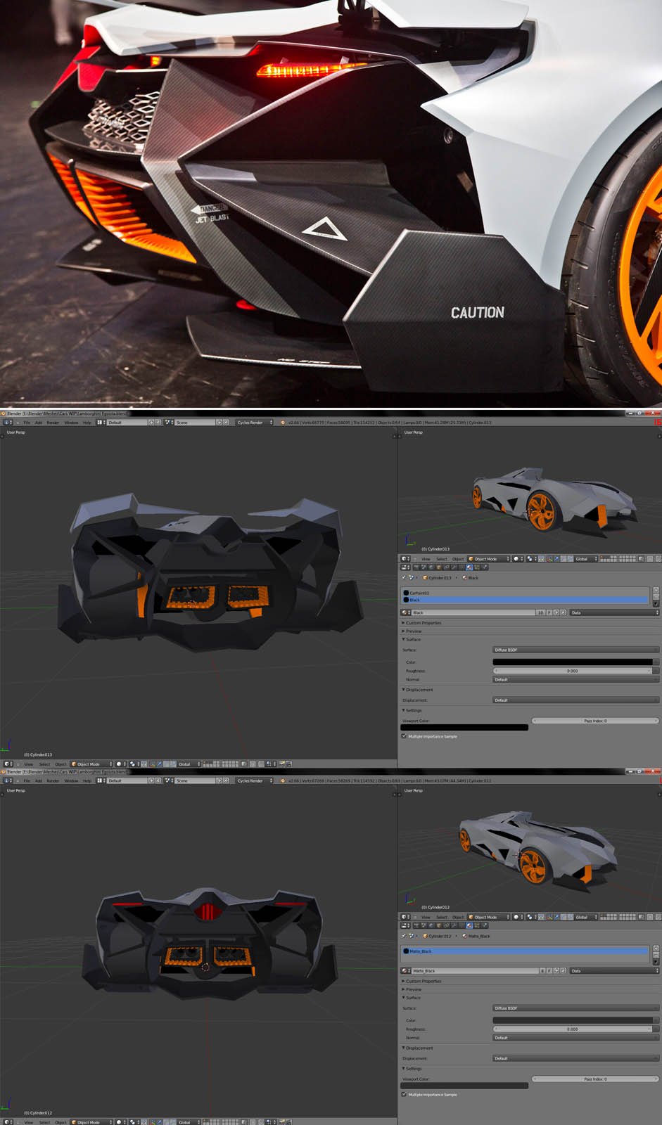 Sketchfab Community Blog Building The Lamborghini Egoista 3d Model