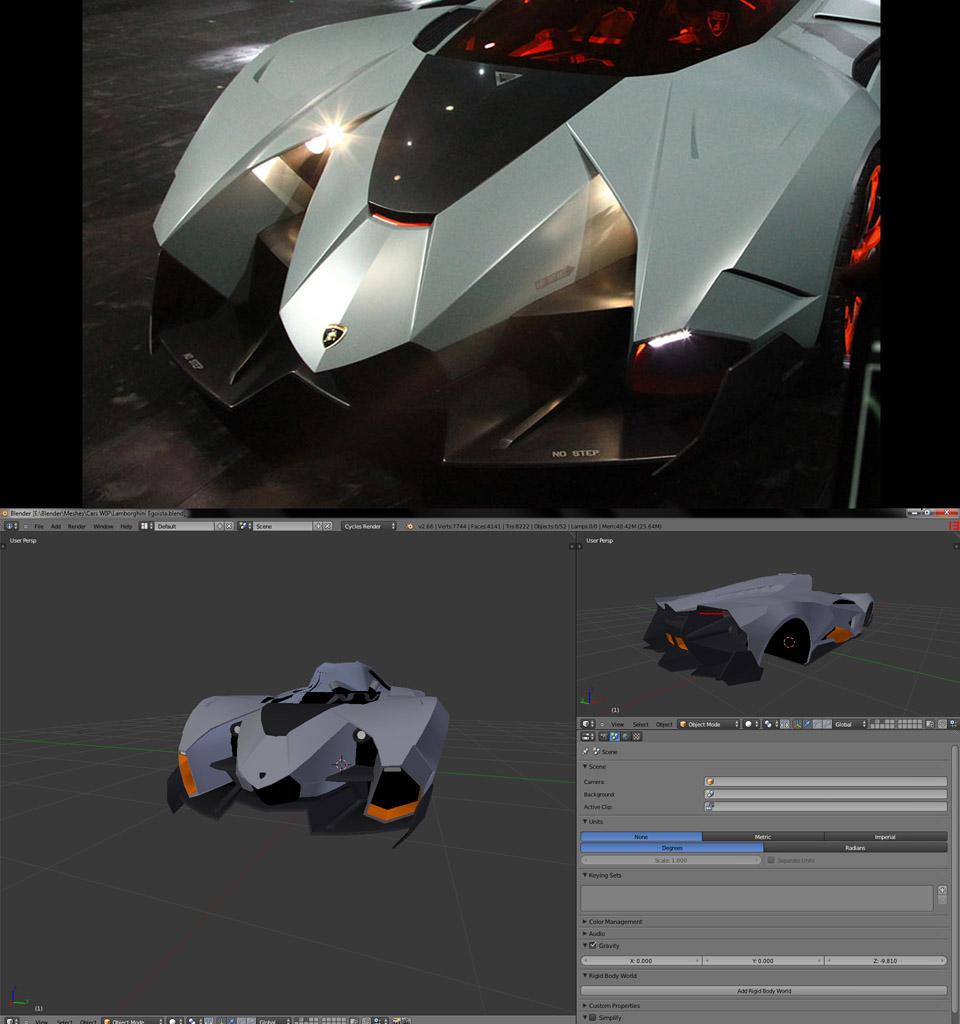 Lamborghini Egoista Inside: Building The Lamborghini Egoista 3D Model