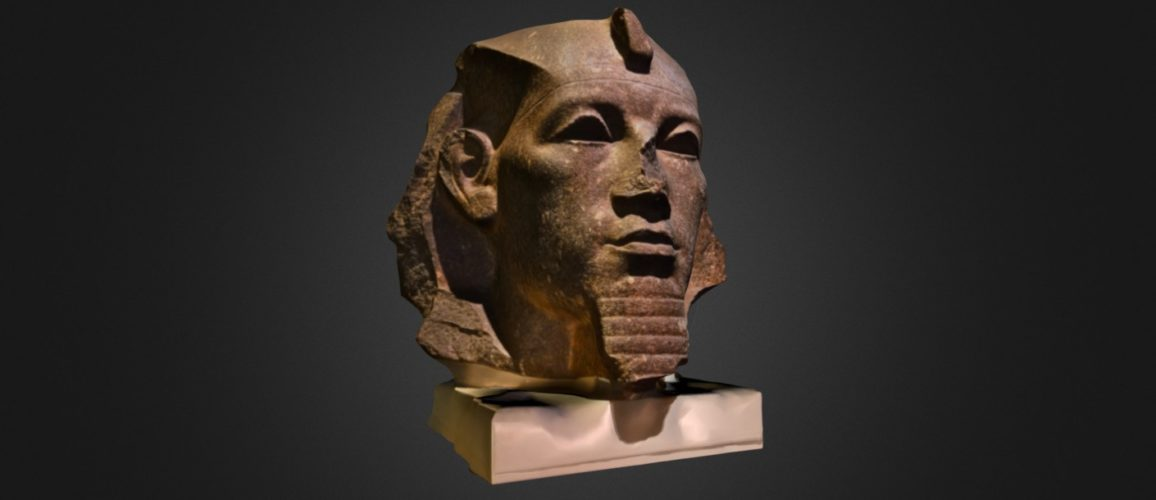 Granite_head_of_Amenemhat_III_by_The_British_Museum_-_download_3D_model_-_Sketchfab