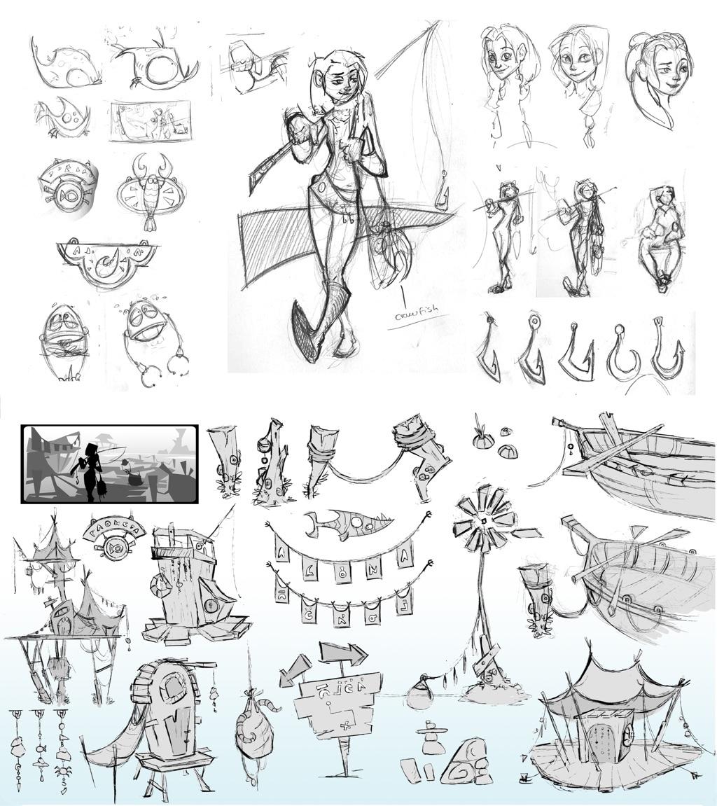 Image 3: sketching_guamBay_emilieStabell