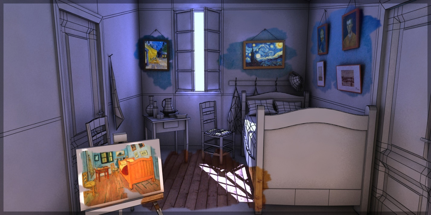 My Goal Was To Make The Room As Realistic As Possible, So Textures And  Lighting Play An Important Role.