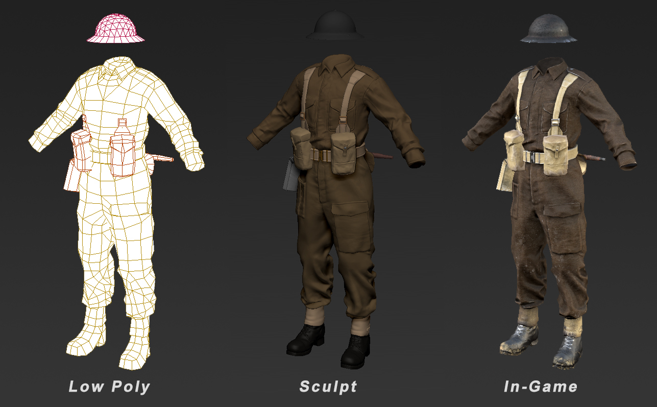 Company of Heroes 2 - Tommy Infantry - Modeling process