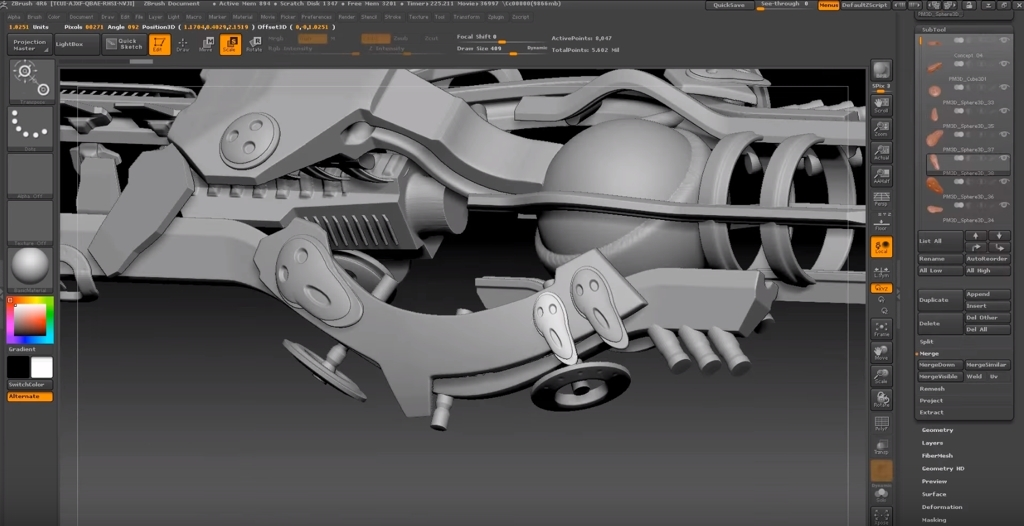 Sketchfab Community Blog - Time lapse: Spaceship design