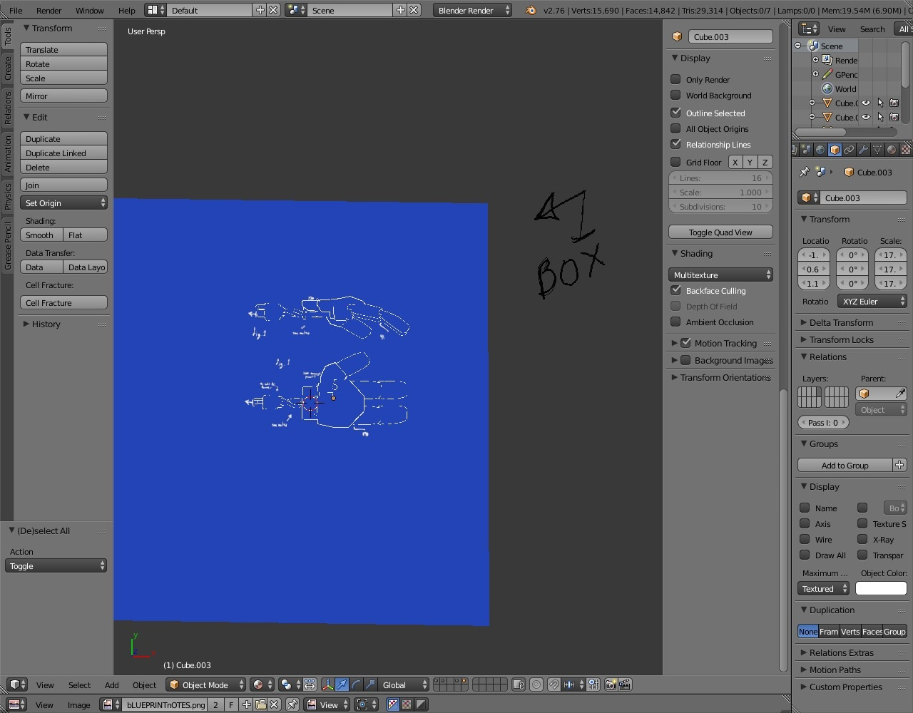 Tutorial creating 3d blueprints sketchfab blog 6 example of background box malvernweather Images