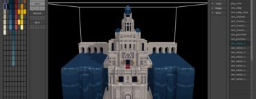 animated voxels header