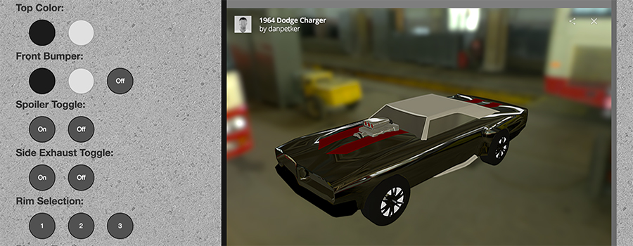 Dodge Charger Customization Station