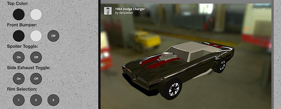 Dodge Charger Customization Station