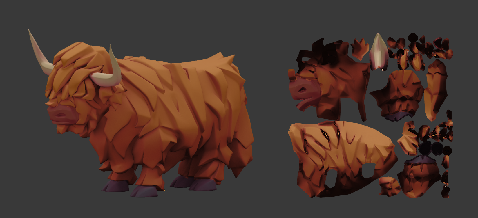 Art Spotlight Highland cow Sketchfab Blog