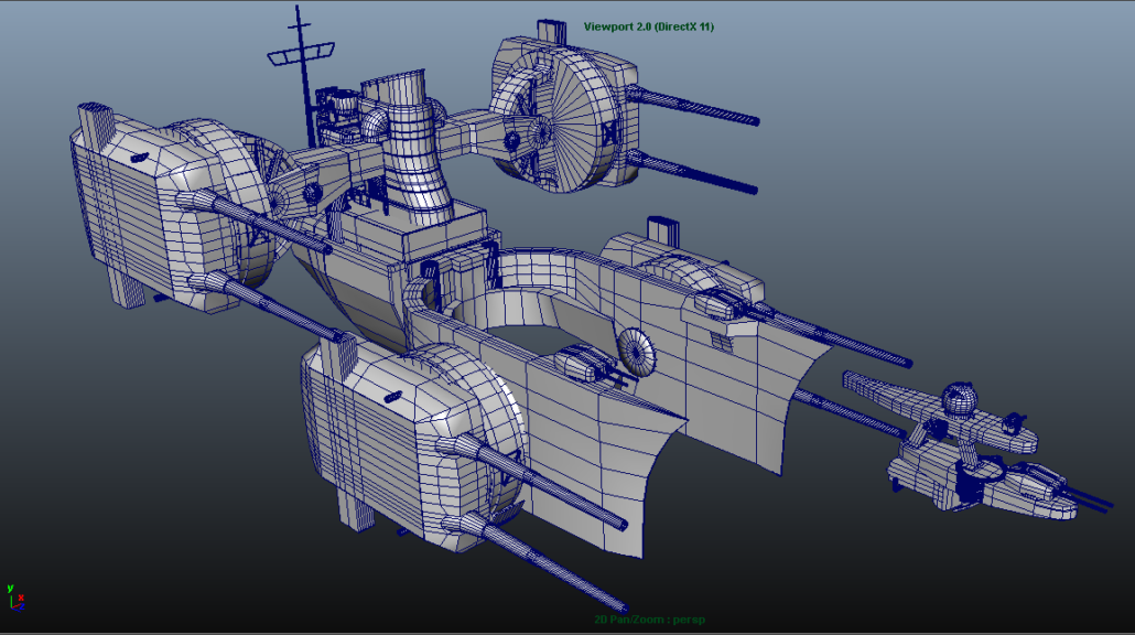Mechanical parts done in Maya