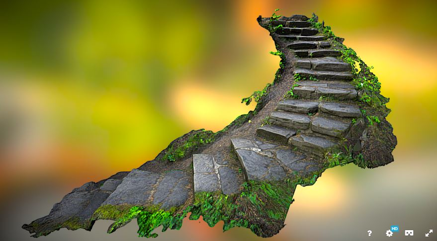 Agisoft example - Craigside Steps by SketchFab User Paul