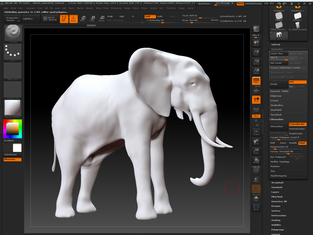 and.. up again in polycount!