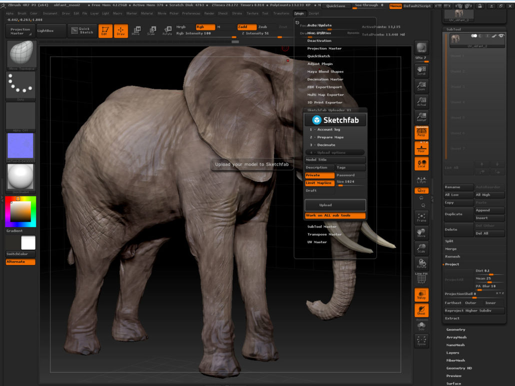 Exporting to Sketchfab made easy