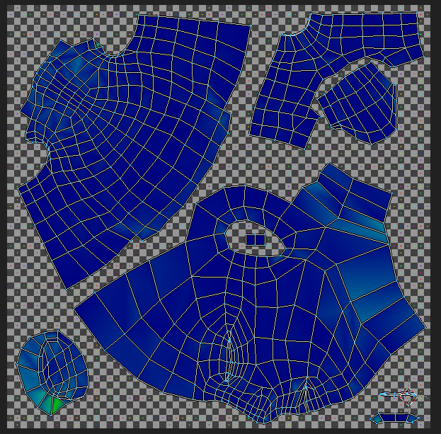 This is what the UV map looks like. Hey, it does the job.