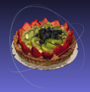 fruit tart decimated in meshlab