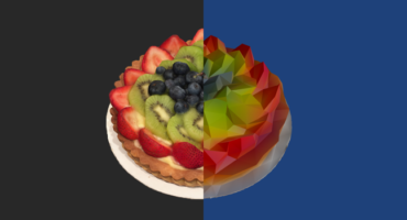 low poly fruit tart header