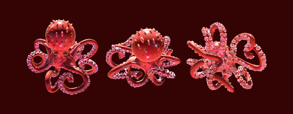 Tentacles complex shapes, done in few minutes