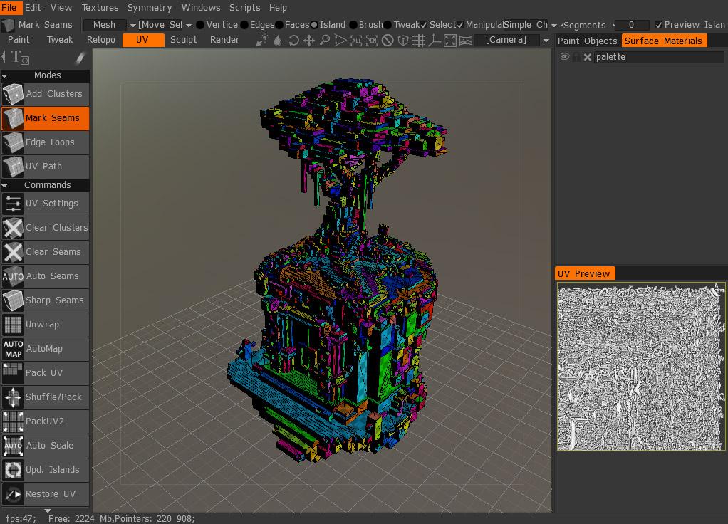 Voxel Workflow with 3D Coat MeshLab Sketchfab Blog