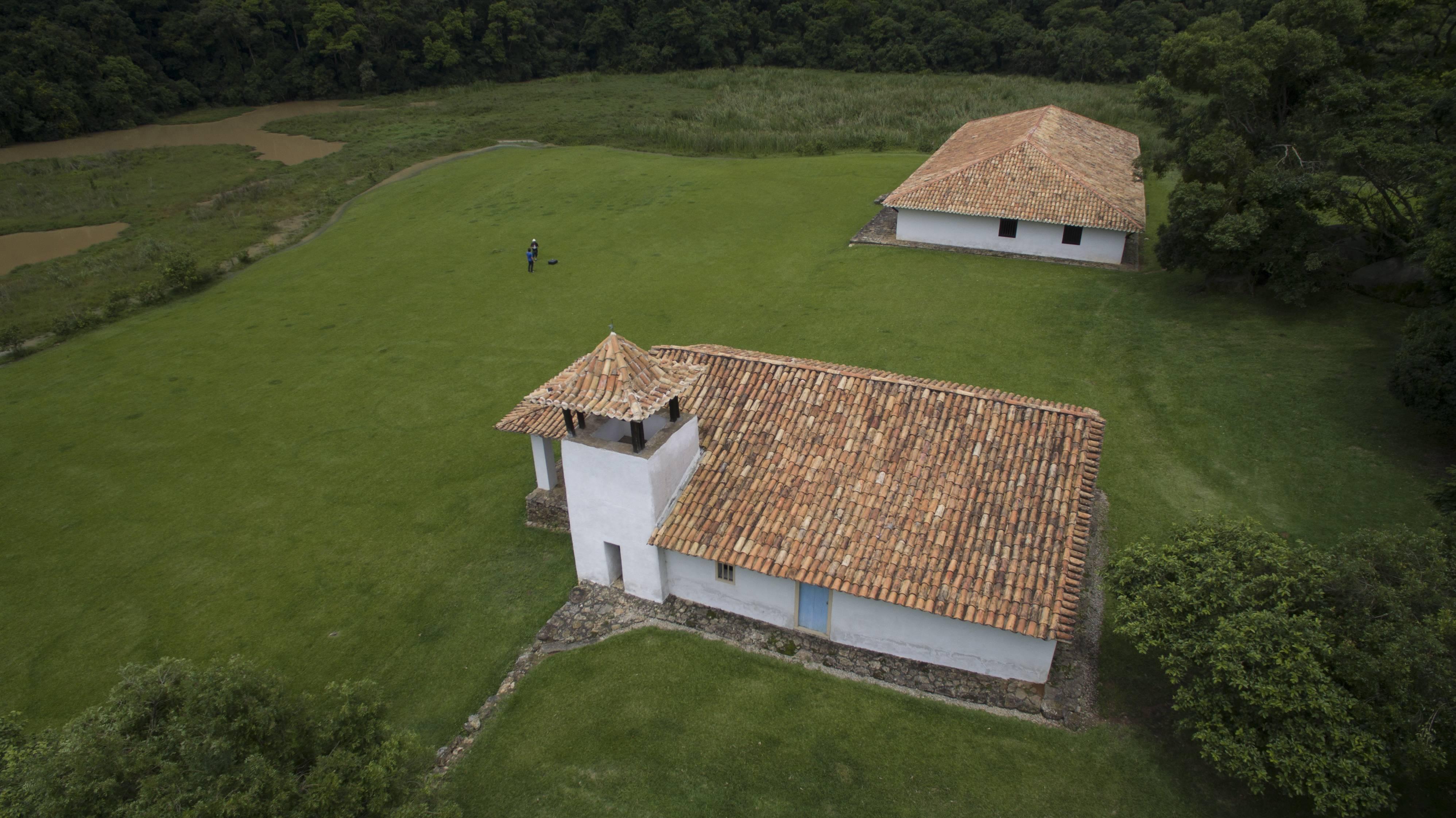 sao roque chapel aerial