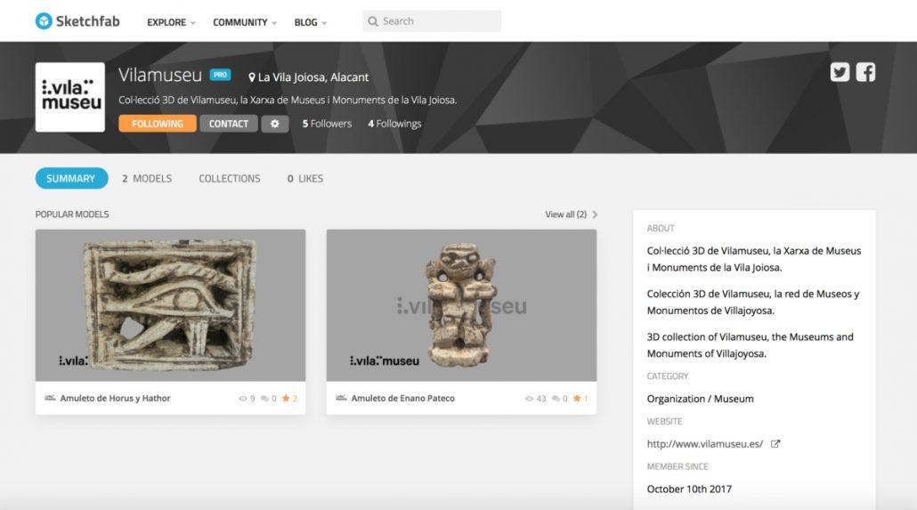 vilamuseu sketchfab profile