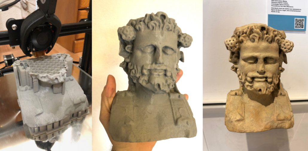 3D printing process Manacor Museum Nestor F Marques