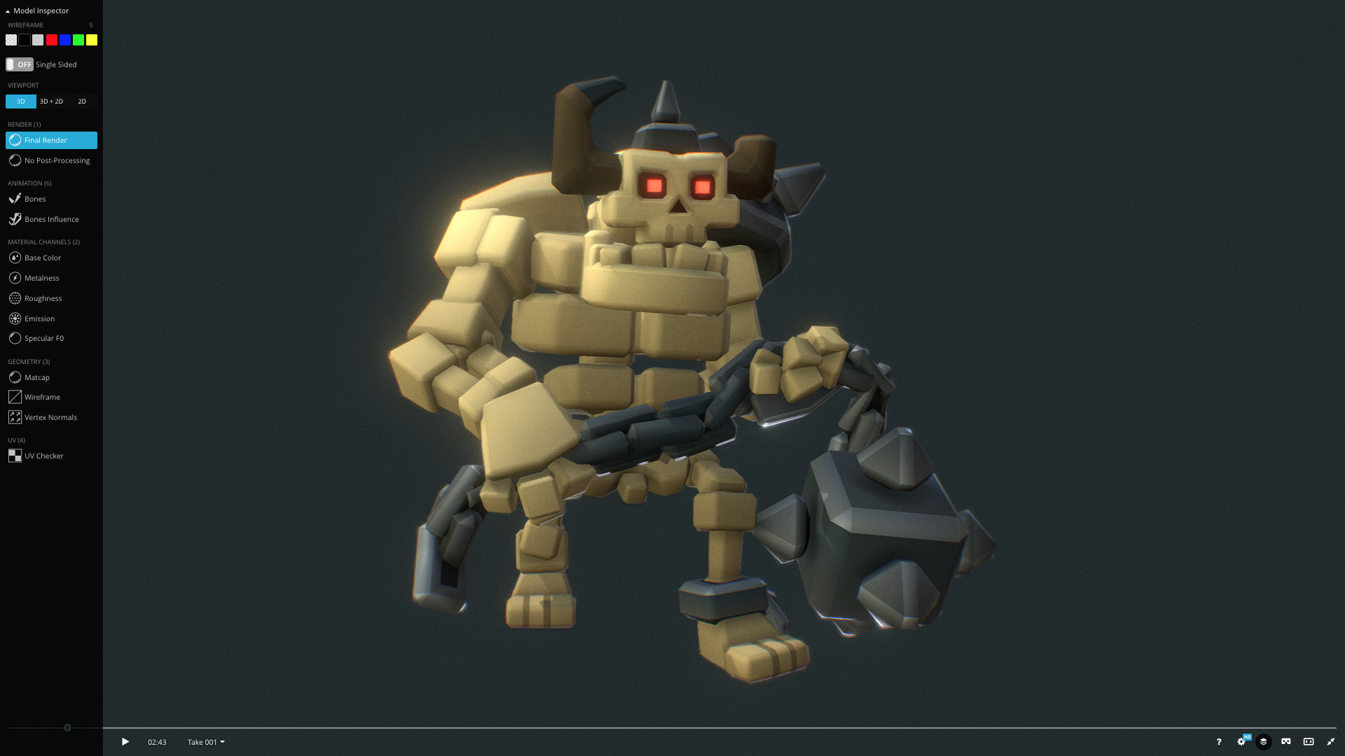 Sketchfab Community Blog - How To Inspect Animated Rigged 3D Models