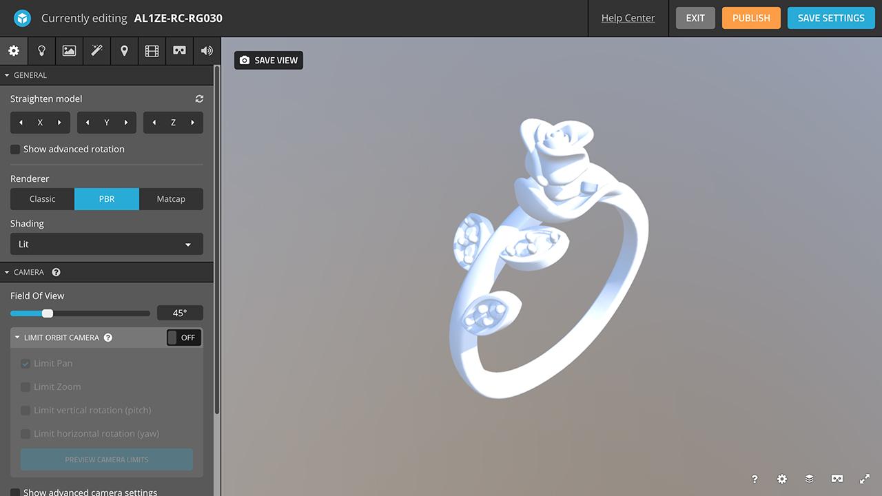 rhino 3d jewelry sketchfab camera orientation