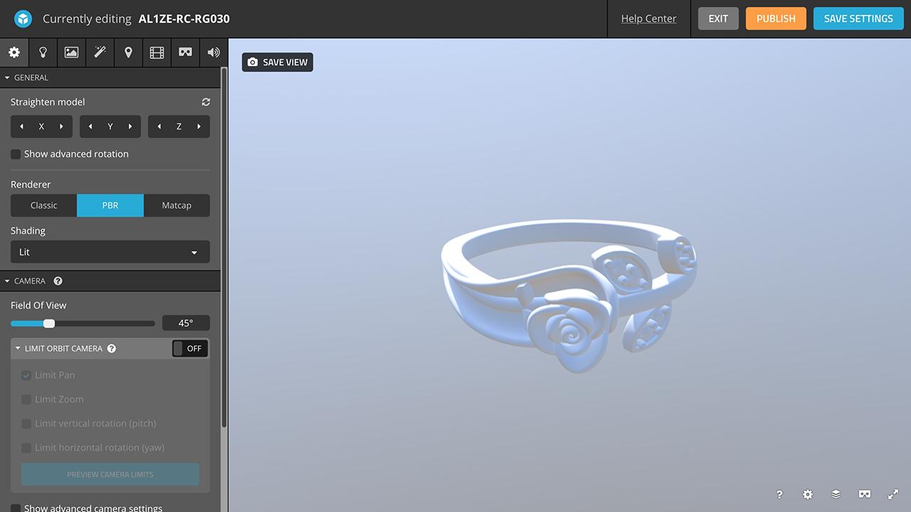 rhino 3d jewelry sketchfab editor initial