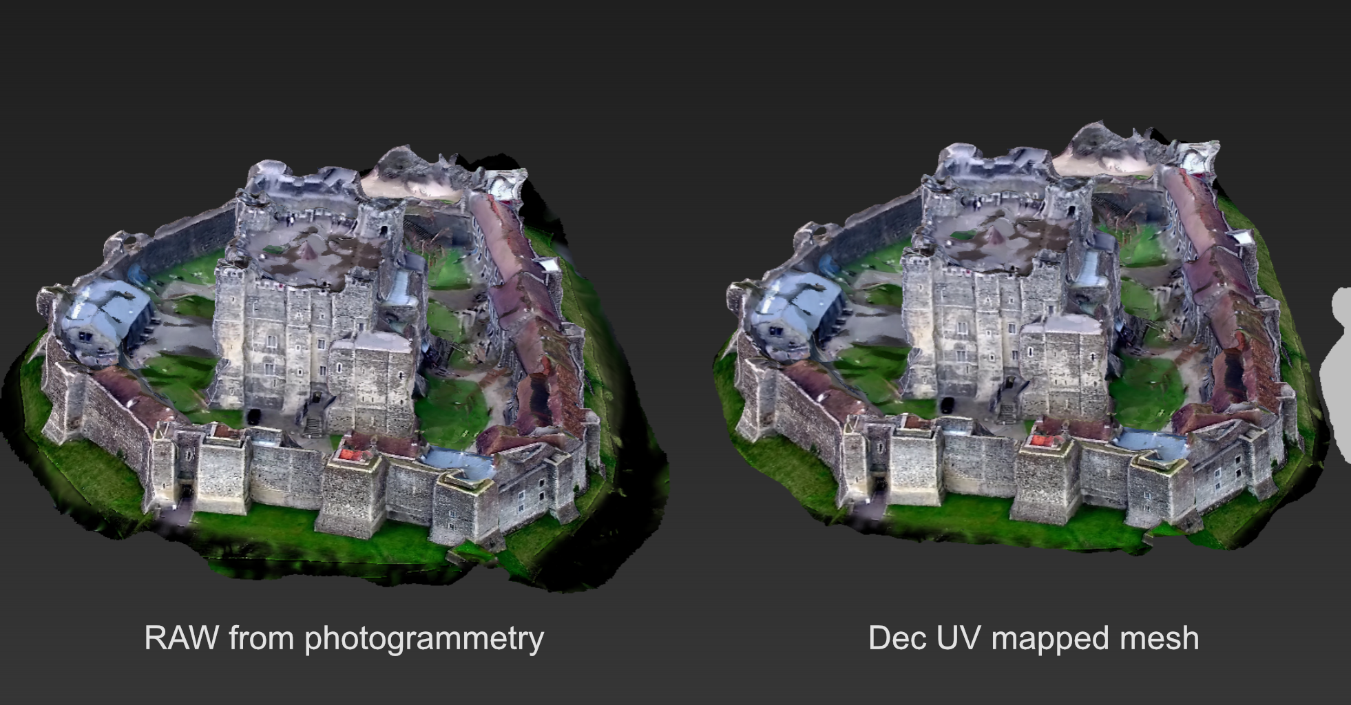 photogrammetry software UV mapped