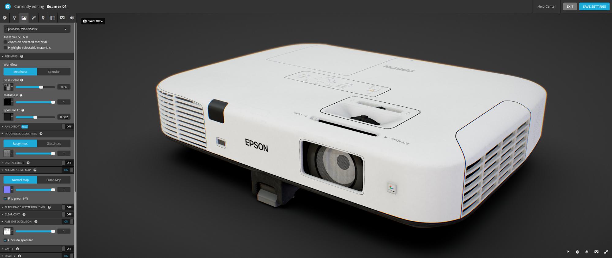 Fabio Orsi Sketchfab 3D Settings