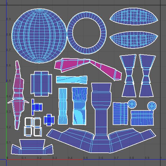 space ship UVs