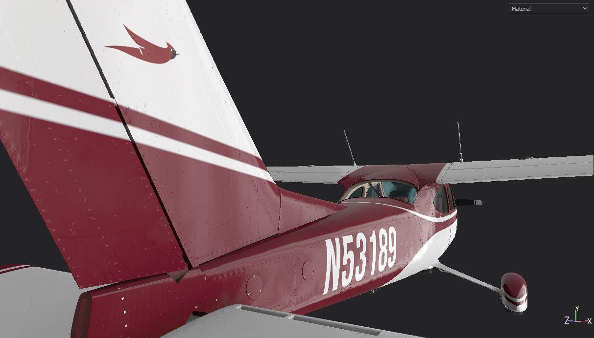 Cessna 177 Cardinal Rudder
