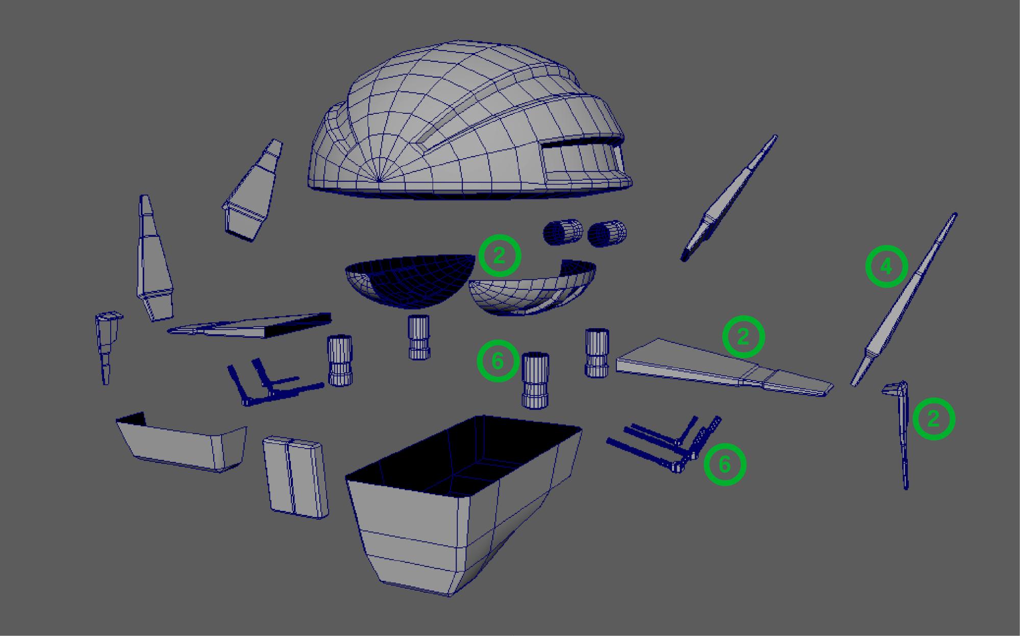 space ship parts