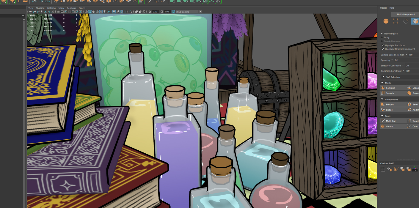 wizard market stall bottles
