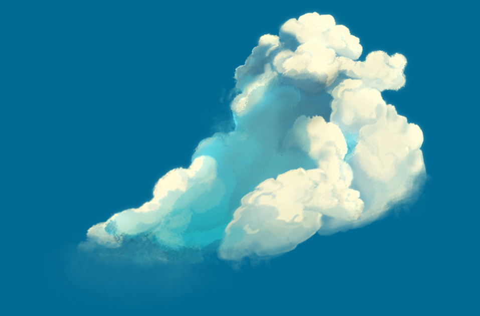 3d watercolor cloud