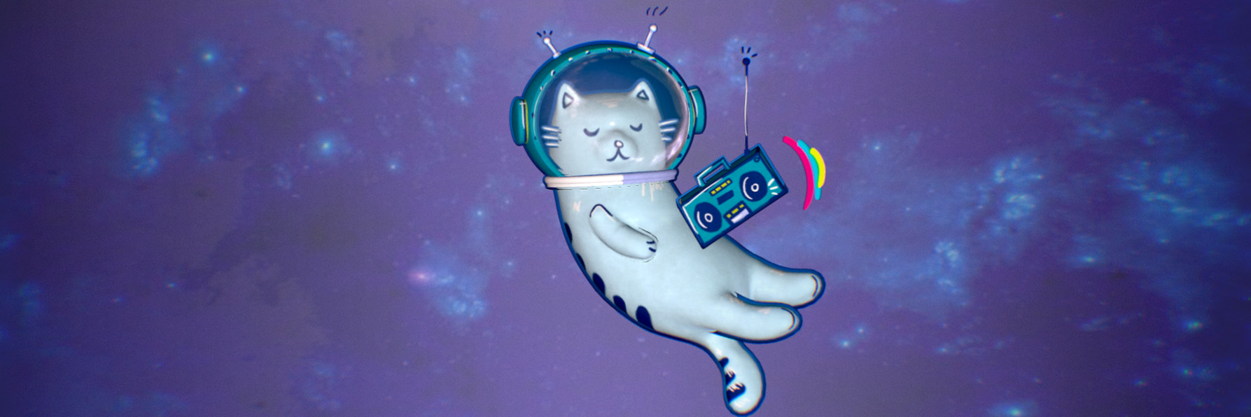 boombox space cat header image