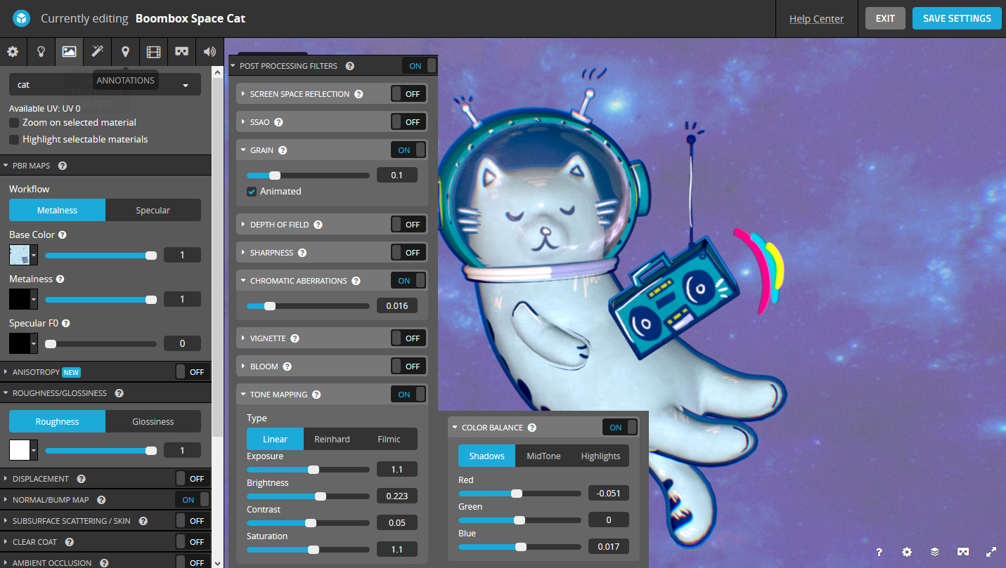 Sketchfab Community Blog - Art Spotlight: Boombox Space Cat