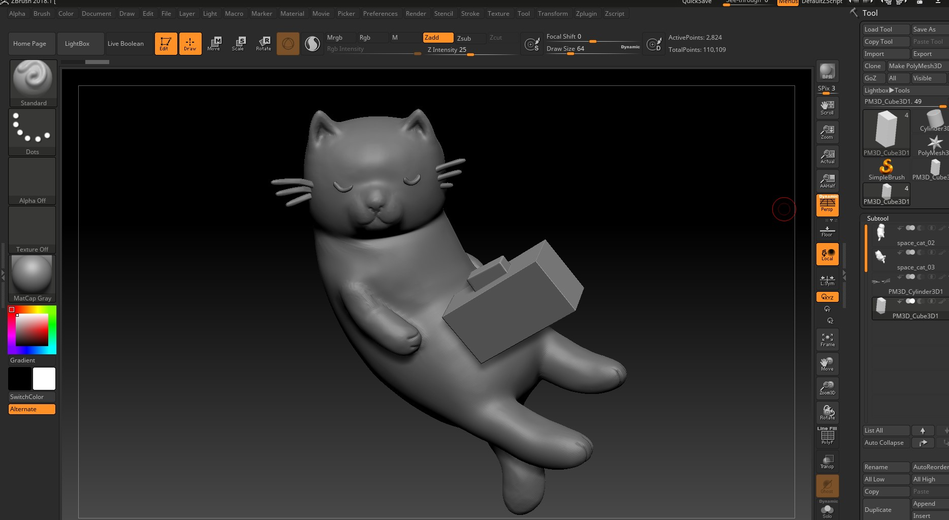 boombox space cat retopology