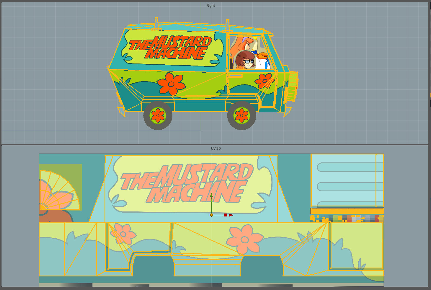 mystery machine UV layout