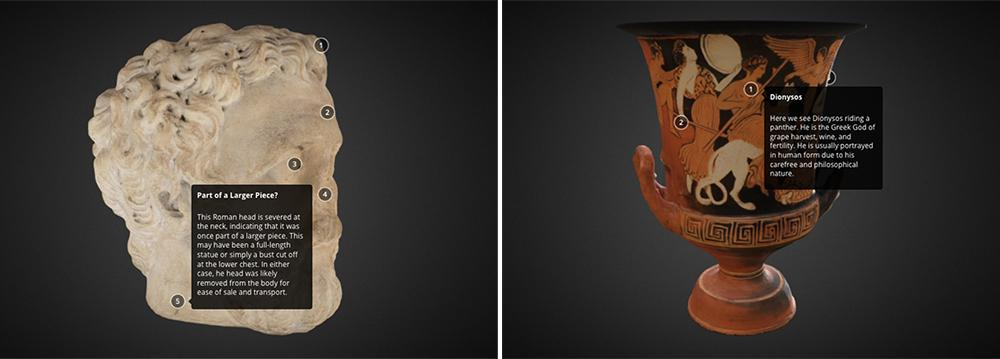 animating antiquity krater bust