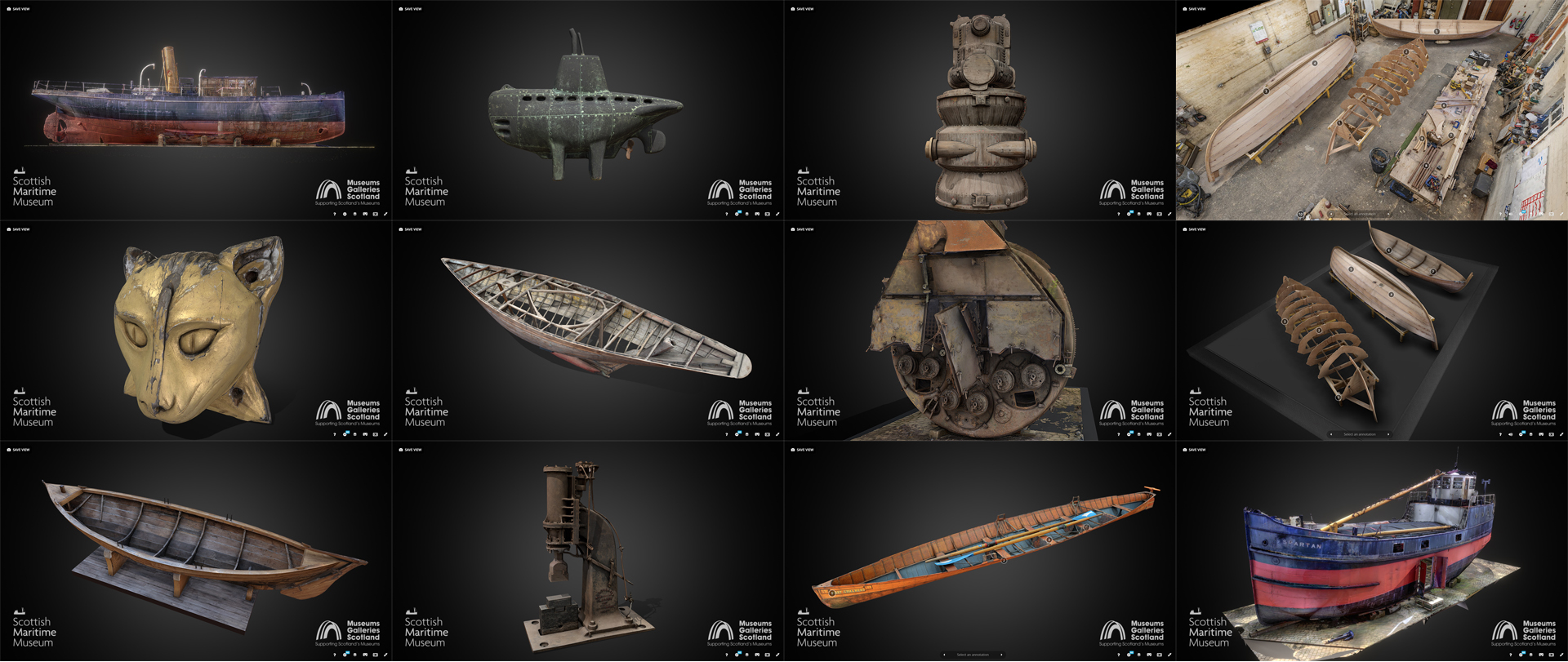 scottish maritime museum sketchfab models