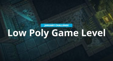low poly game level challenge