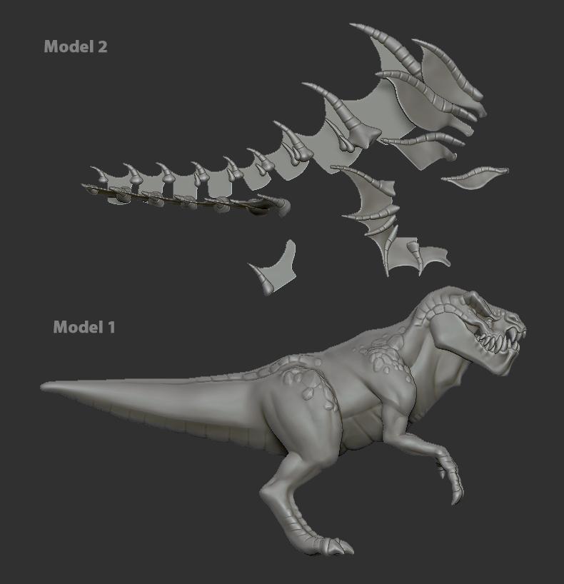 dinosaur retopology