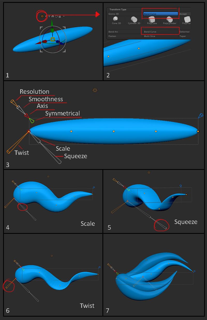 bend curve tool