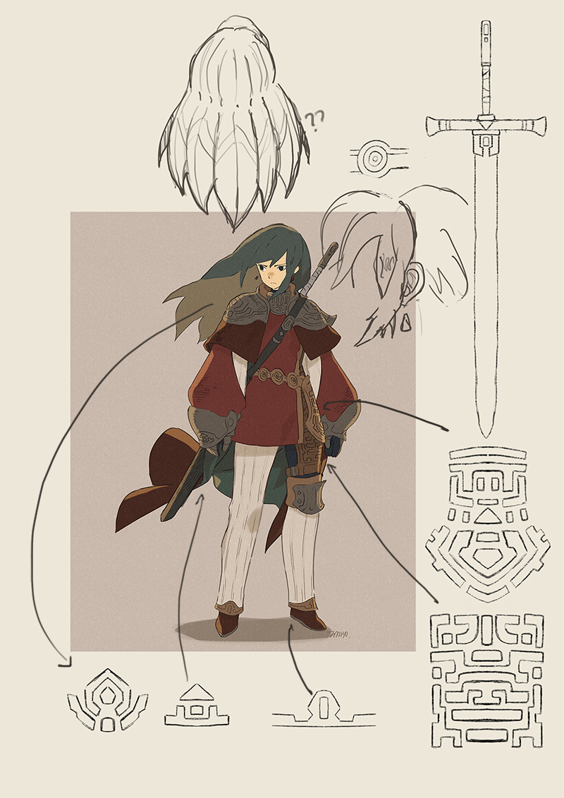 knight of orimo sketching