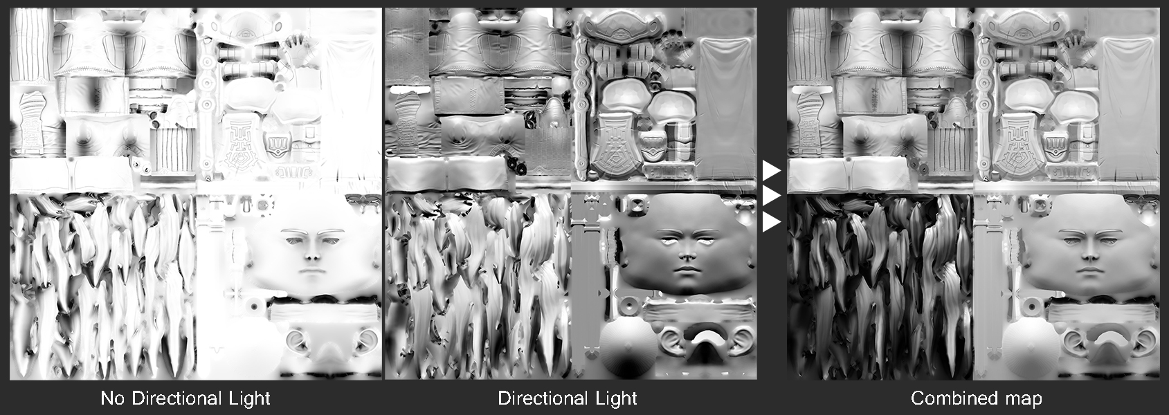 composite lighting map 3d