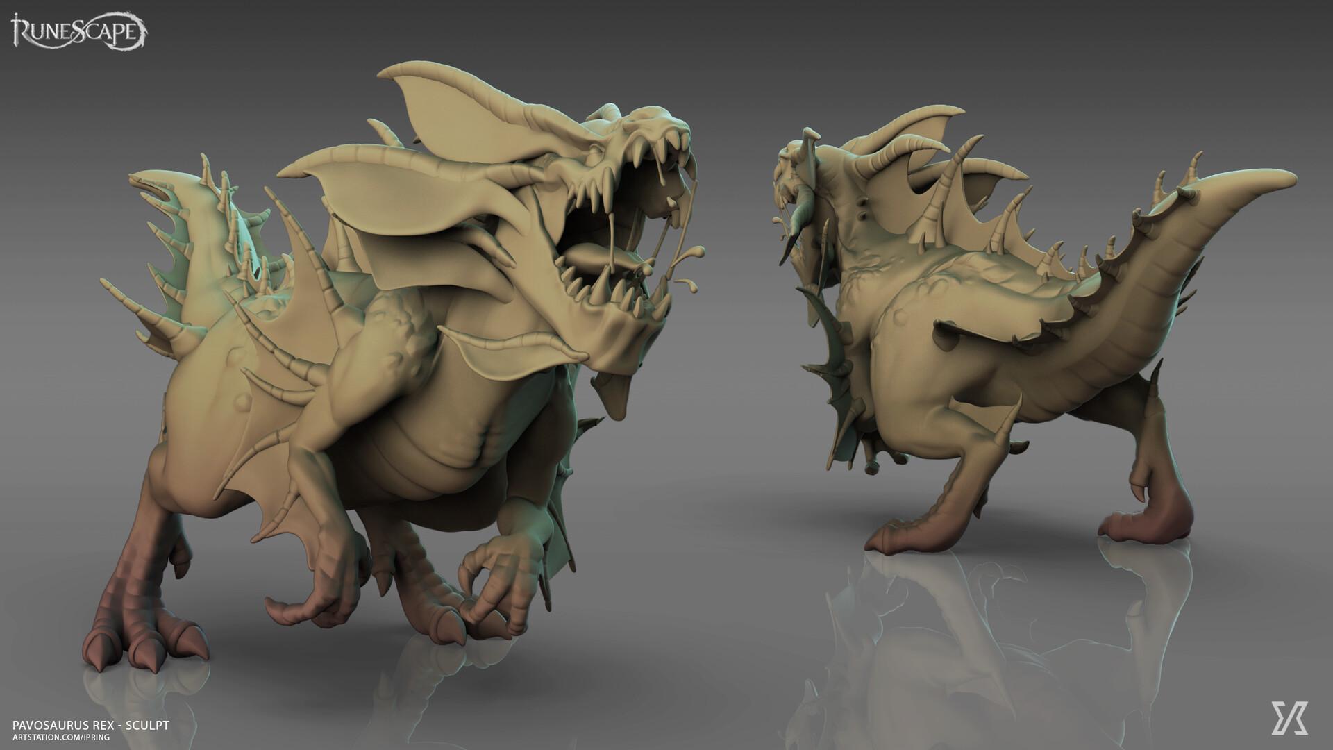 runescape dinosaur sculpt