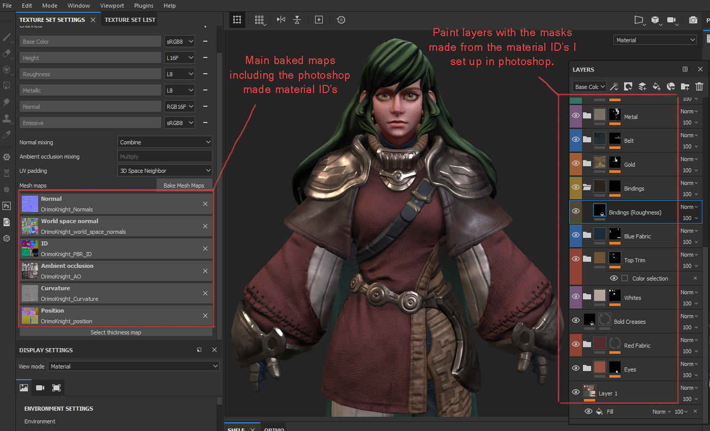 substance painter material IDs