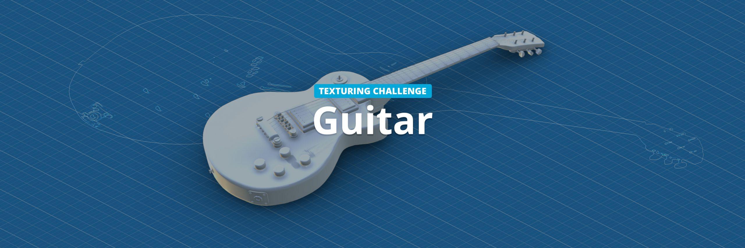 sketchfab guitar texturing challenge header image