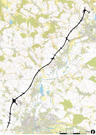 highway excavation map