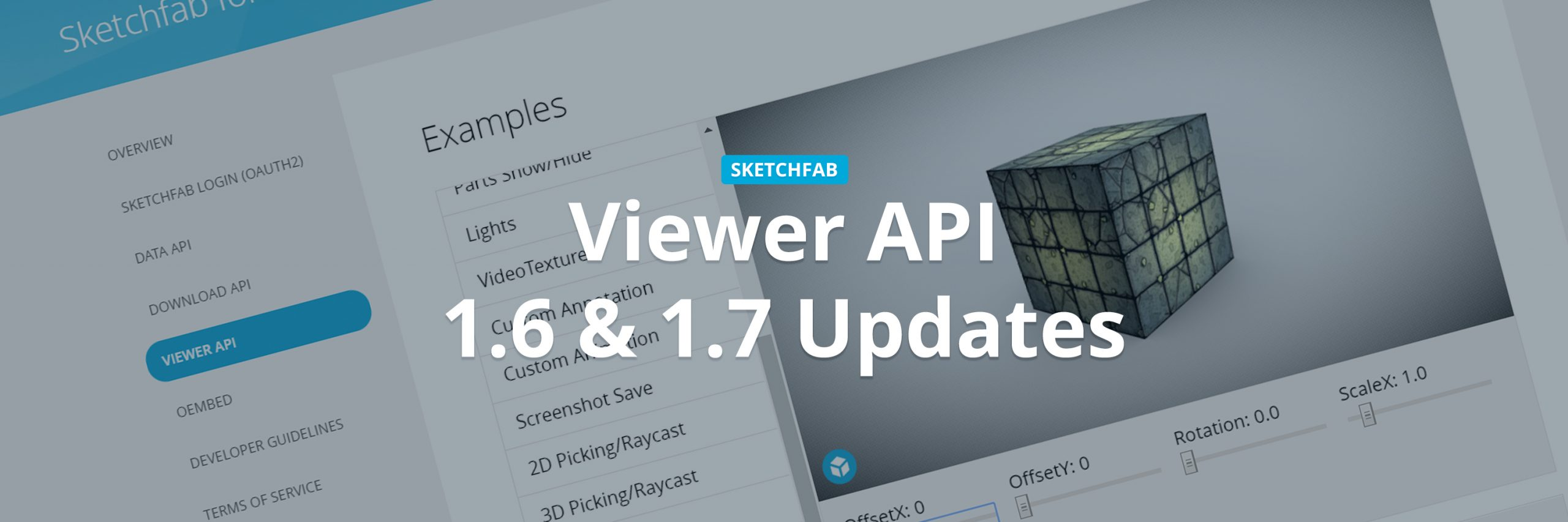 Sketchfab Viewer API 1.6 & 1.7 UV Transformation Demo